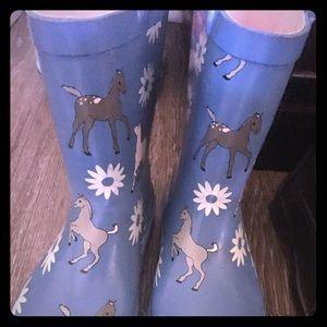 Foxfire for Kids , size 10 Blue Rubber boots